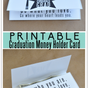 Graduation Money Holder Card www.thirtyhandmadedays.com