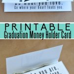 Printable Graduation Money Gift Card Holder - print out and use as a graduation gift.