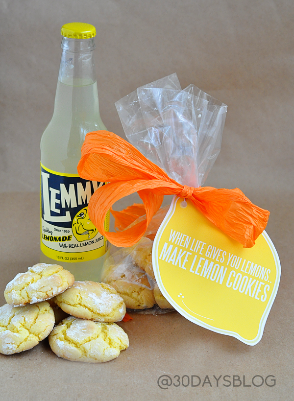 When life gives you lemons...make lemon cookies! + Printable www.thirtyhandmadedays.com