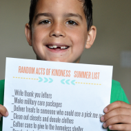 Random Acts of Kindness Summer List