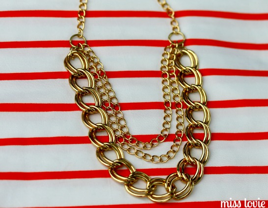07 Gold Chain Necklace Tutorial