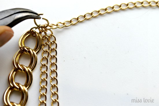 10 gold chain necklace tutorial