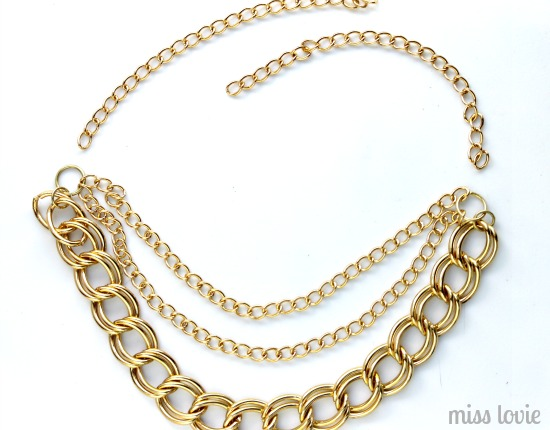 11 Gold Chain Necklace DIY