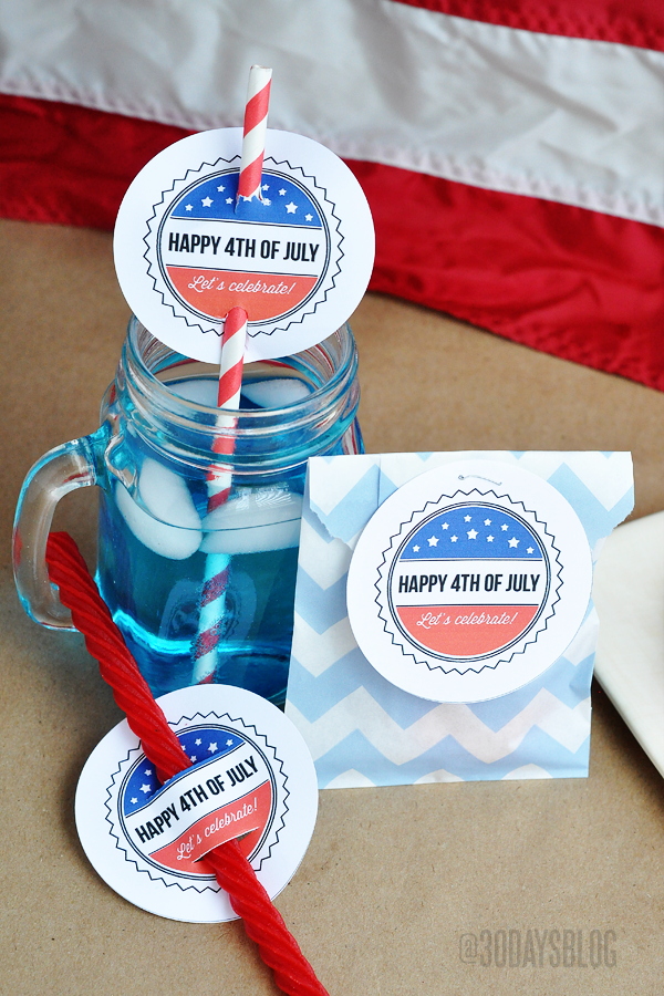4th of July Printables www.thirtyhandmadedays.com