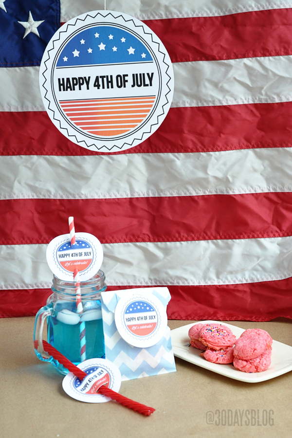 4th of July Printable from www.thirtyhandmadedays.com