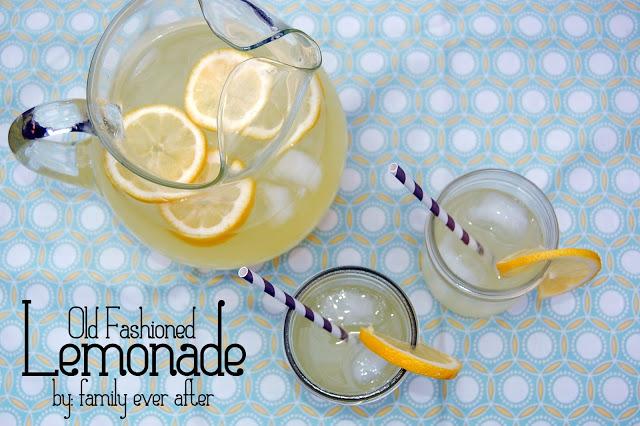 Old Fashioned Lemonade from Family Ever After via www.thirtyhandmadedays.com