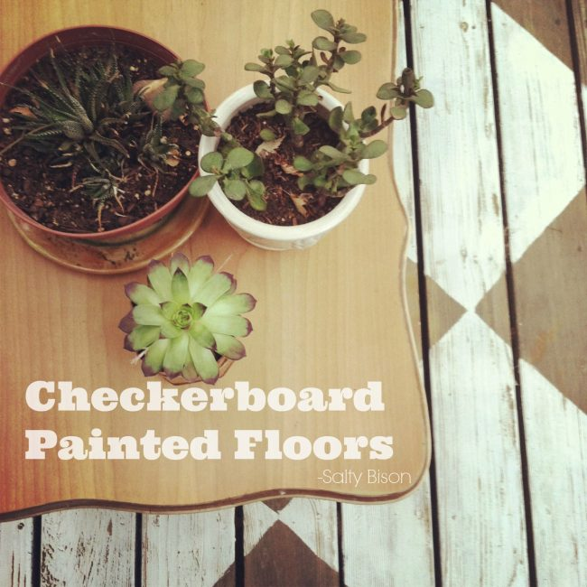 checkerboard painted floors