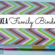 Make a Family Binder