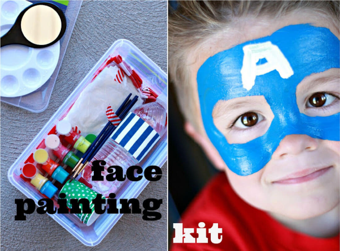 Face Painting Kit - make a kit for parties or for fun in the summer with your kids!
