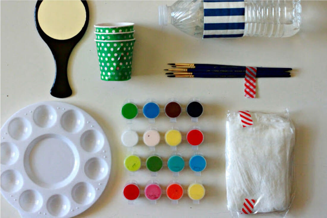 Portable Face Painting Kit - make a kit for parties or for fun in the summer with your kids!