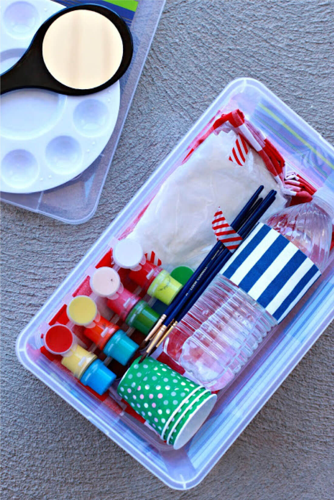Portable Face Painting Kit - supplies needed to make this kit.
