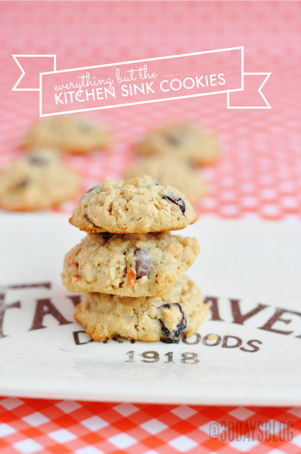 everything but the ..kitchen sink cookies