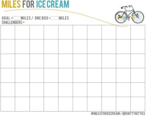Miles for Ice Cream Printable