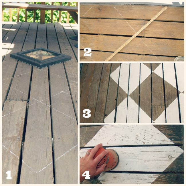 painted deck floor