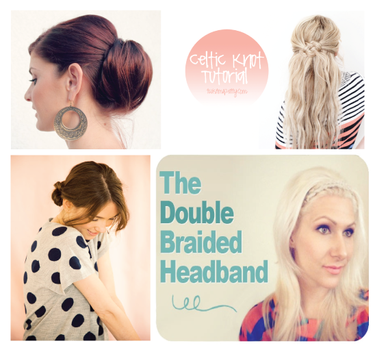 Quick Hairstyles to get out the door faster www.thirtyhandmadedays.com