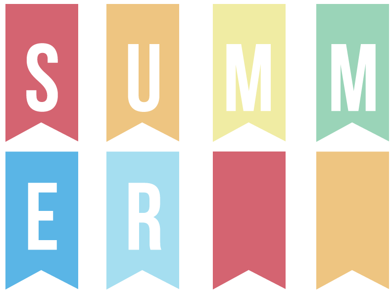 Printable Summer Banner www.thirtyhandmadedays.com
