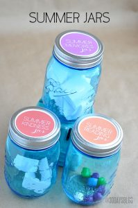 Kids Summer Jar Ideas: Kindness, Reading + Memories Printables www.thirtyhandmadedays.com