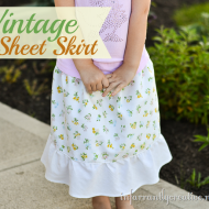 Adorable Vintage Sheet Skirt Tutorial