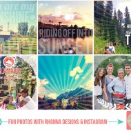Fun Photos with Rhonna Designs & Instagram