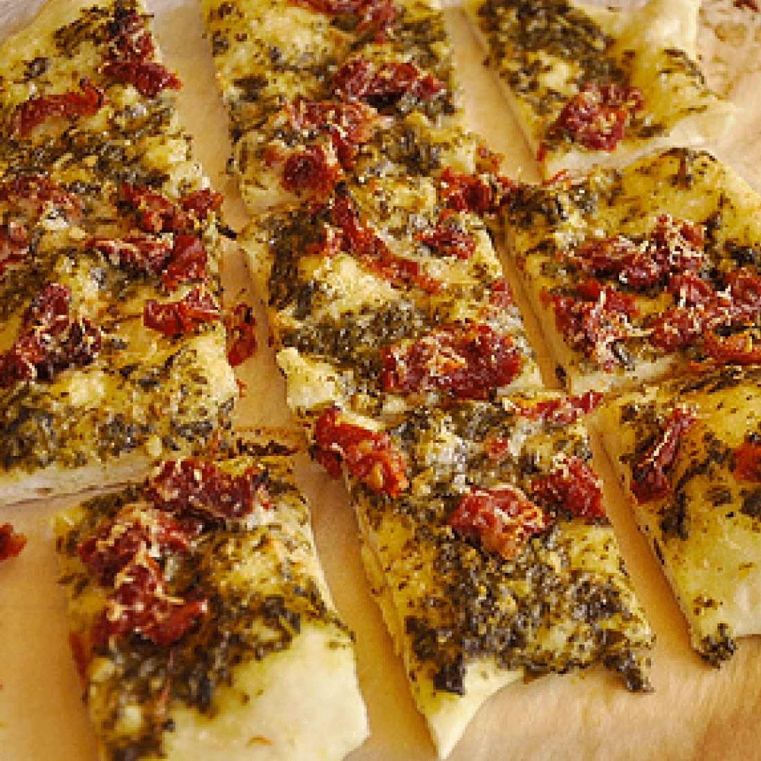 Appetizer Recipes - a round up of the very best. Featuring sun dried tomato flat bread