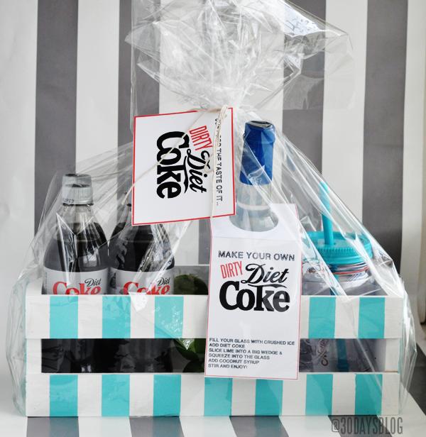 Printable Dirty Diet Coke Kit www.thirtyhandmadedays.com
