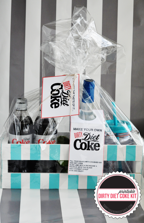 Dirty Diet Coke Printable Kit www.thirtyhandmadedays.com