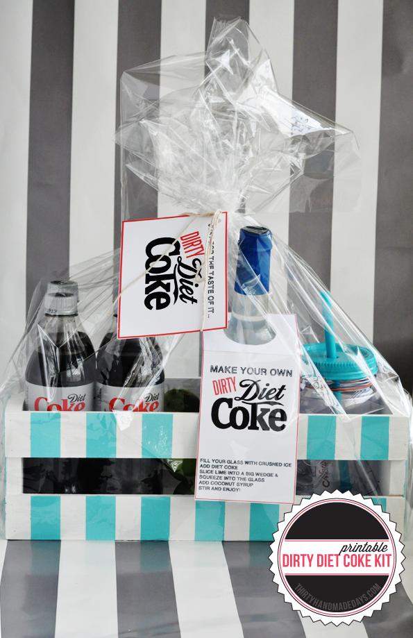 Dirty Diet Coke Printable Kit www.thirtyhandmadedays.com