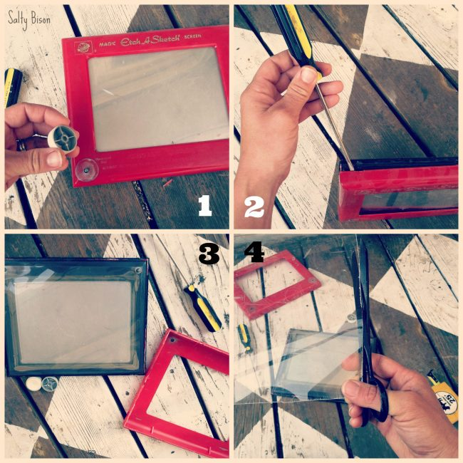 etch a sketch picture frame tutorial