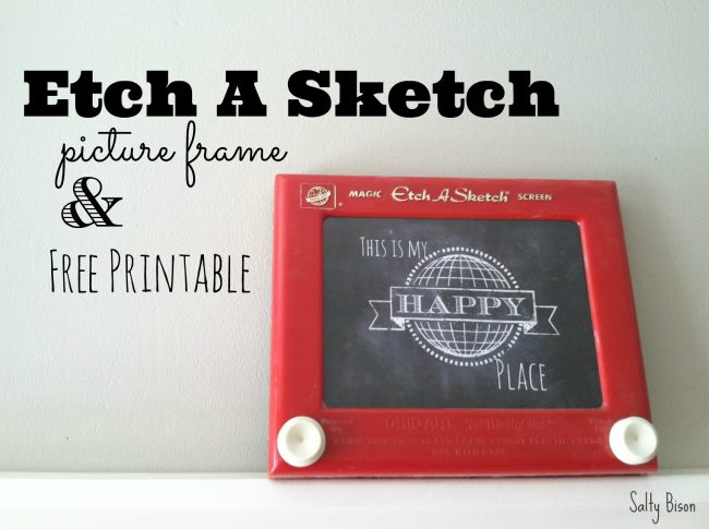 Etch A Sketch Picture Frame & Free Printable from Salty Bison via www.thirtyhandmadedays.com