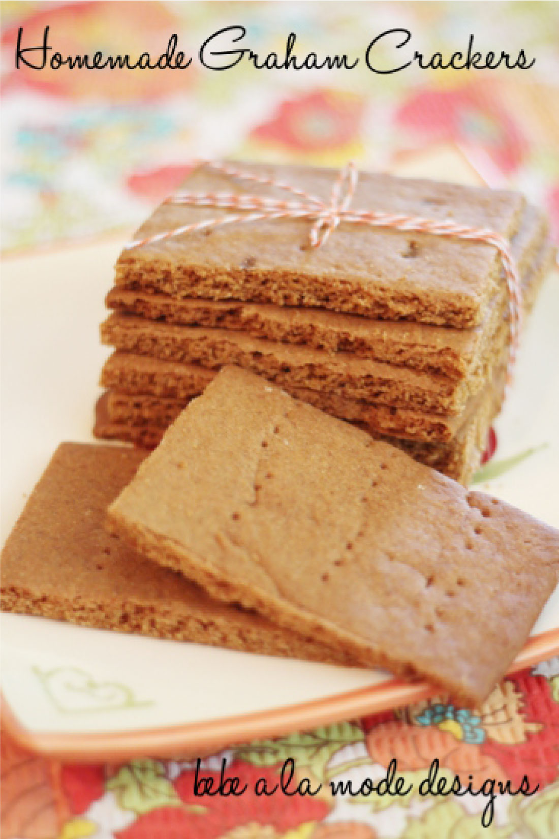 Homemade Graham Crackers- make your own from home.