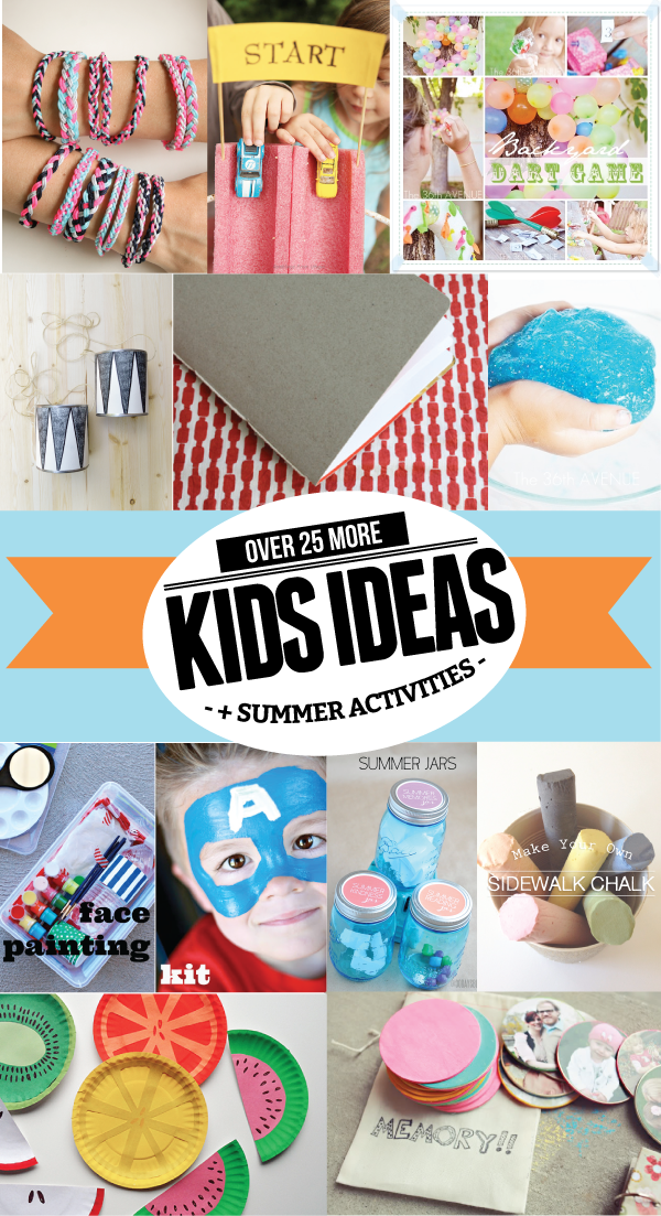 Over 25 MORE Kids Summer Crafts & Activities from www.thirtyhandmadedays.com