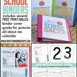 Make Your Own School Binder with several free printables www.thirtyhandmadedays.com