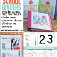 School Binder with Printables