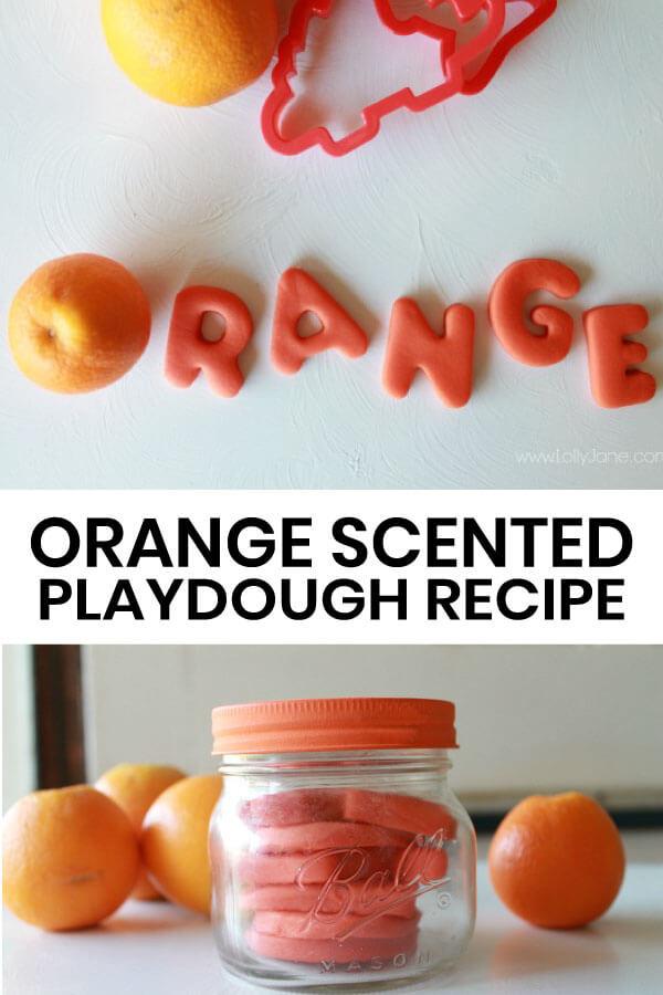 Orange Scented Playdough Recipe - you'll use this recipe again and again!