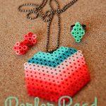 Perler Beads Jewelry Tutorial from eighteen25 girls for Funner in the Summer