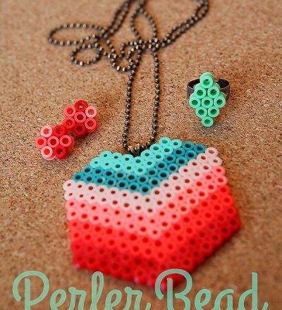 Perler Beads Jewelry Tutorial from eighteen25 girls for Funner in the Summer
