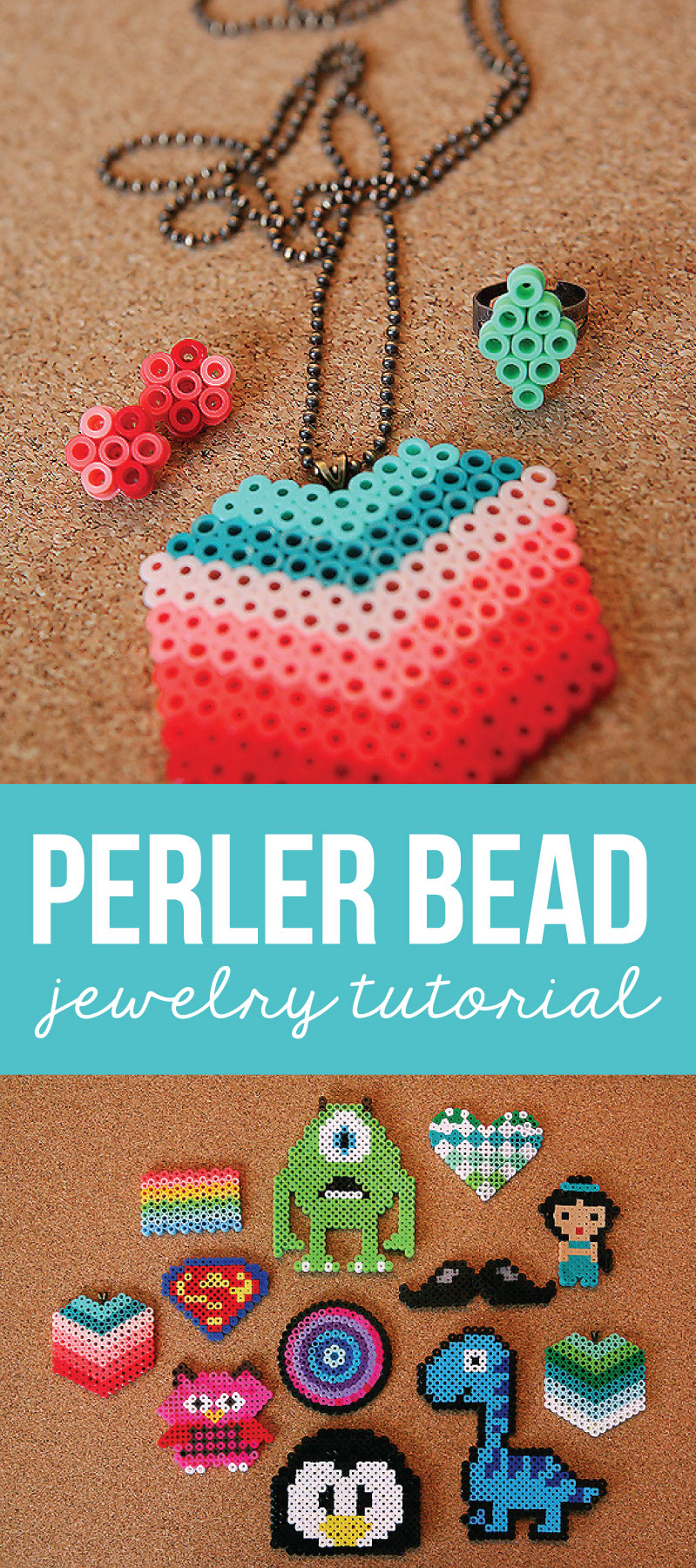 Perler Beads DIY Jewelry Tutorial - learn how to make fun, inexpensive jewelry!