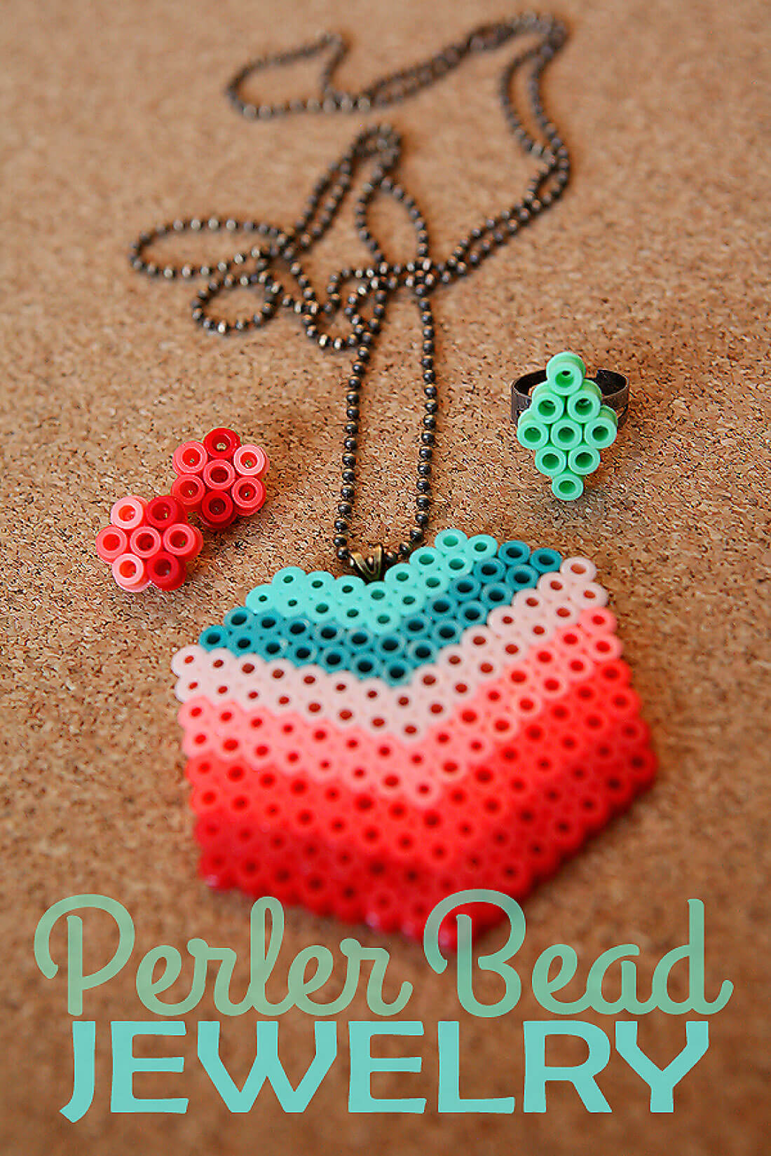 DIY Perler Beads Jewelry - learn how to make your own.