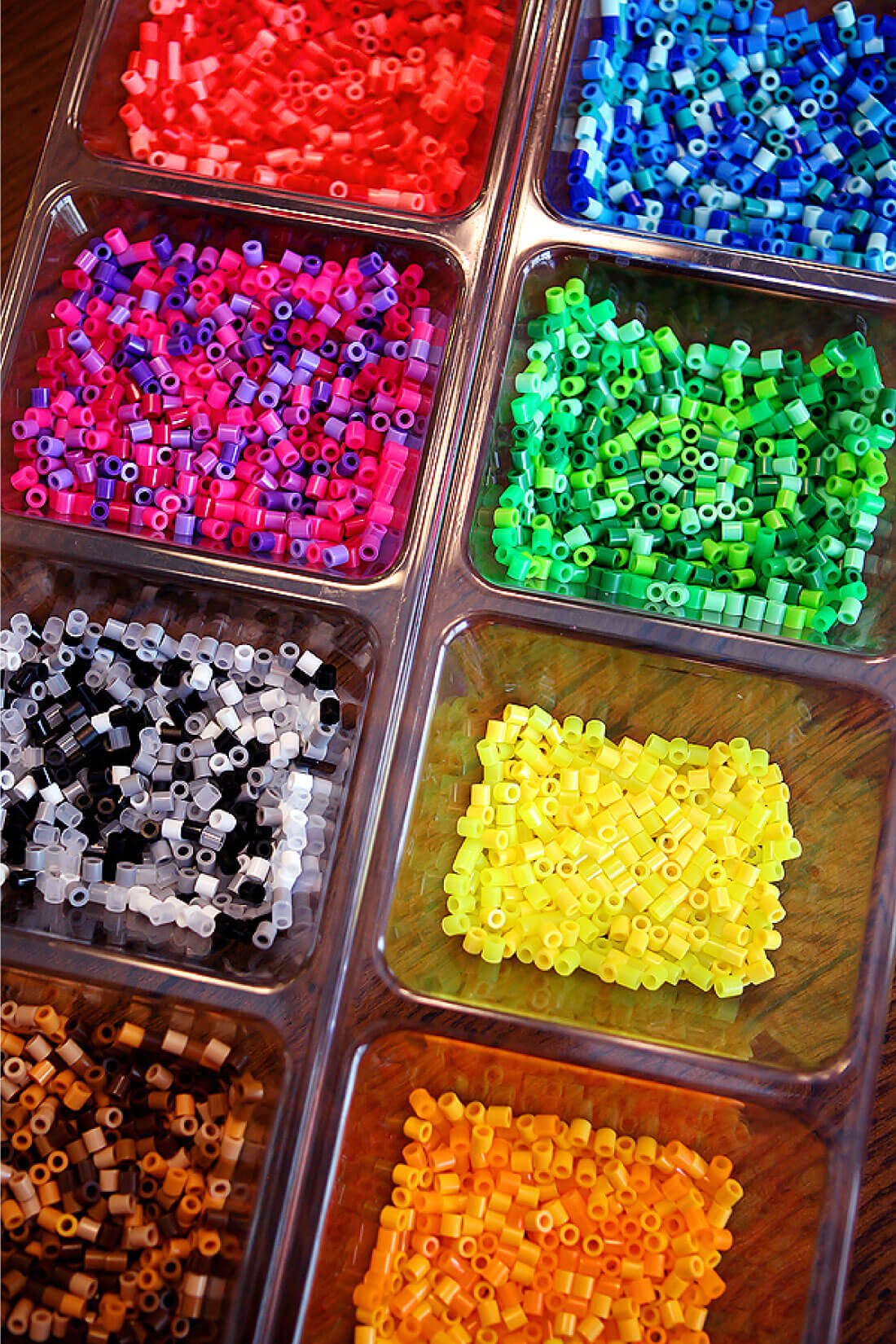 DIY Perler Beads Jewelry - learn how to make your own. All of the beads.