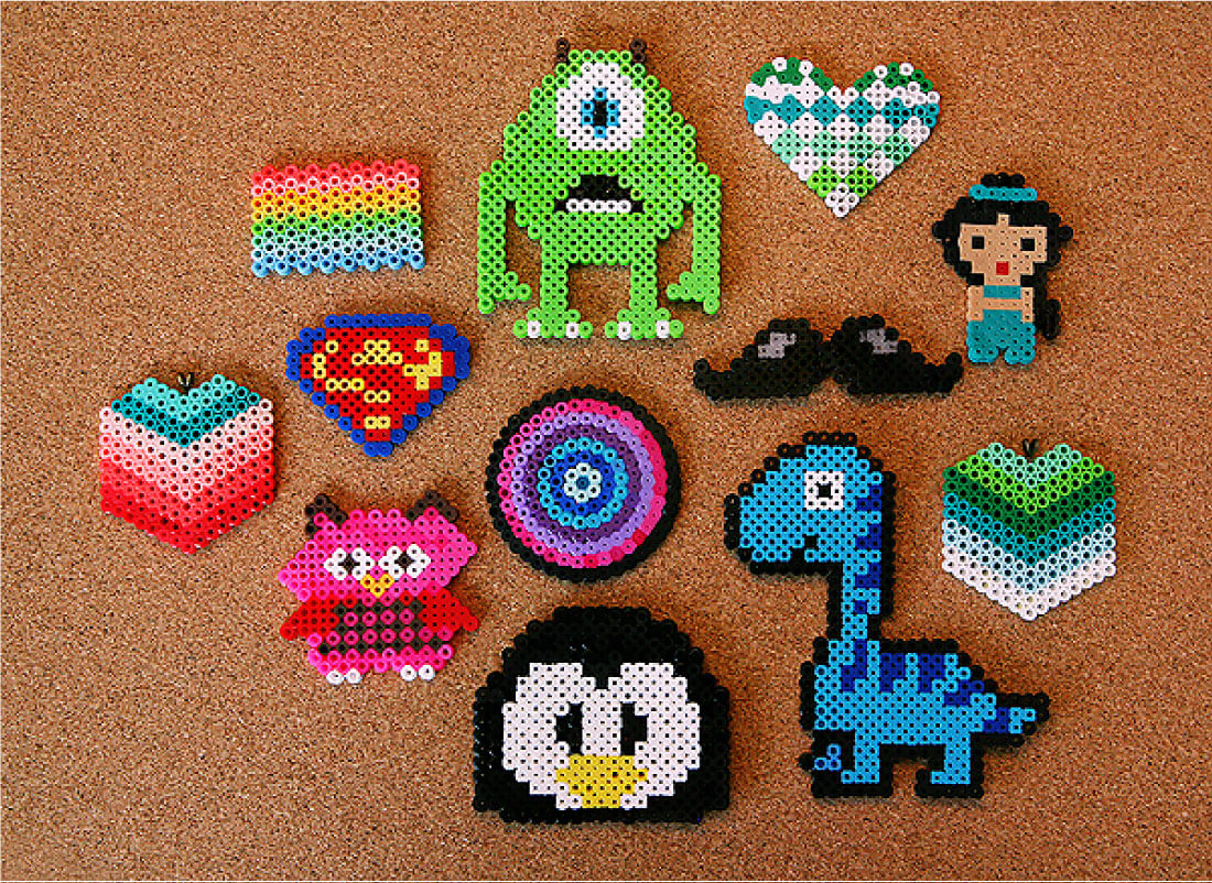 DIY Perler Beads Jewelry - learn how to make your own. Perler Bead Patterns.
