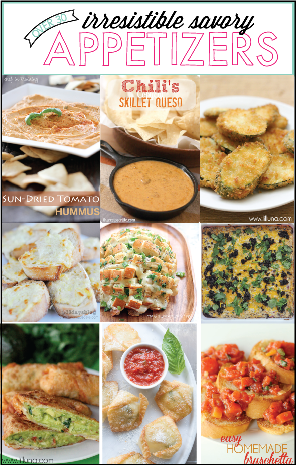 Over 30 Savory Appetizer Round Up from www.thirtyhandmadedays.com