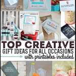 Top Gift Ideas featuring Printables featured on www.thirtyhandmadedays.com
