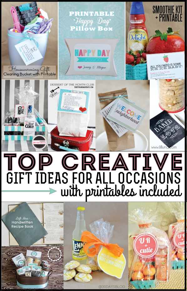 Top creative gift ideas with printables top gift ideas featuring printables featured on thirtyhandmadedays negle Images