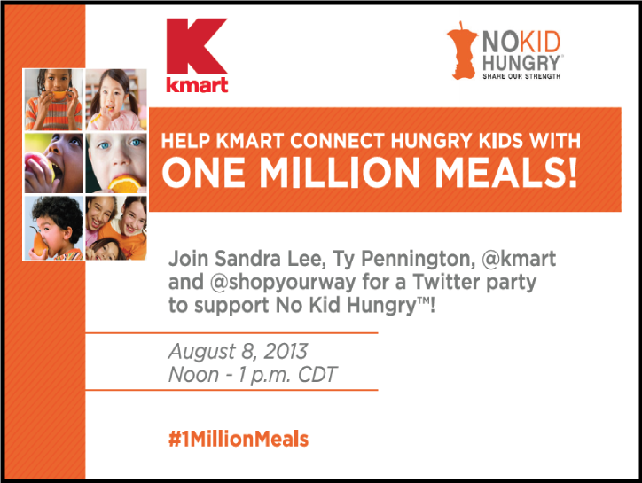 Join me and No Kid Hungry and Kmart to make a difference! www.thirtyhandmadedays.com