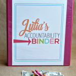 Organization Tips: Make an accountability binder