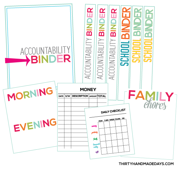 photograph relating to Free Printable Organizing Sheets titled Binders for Higher education: Generate an responsibility binder