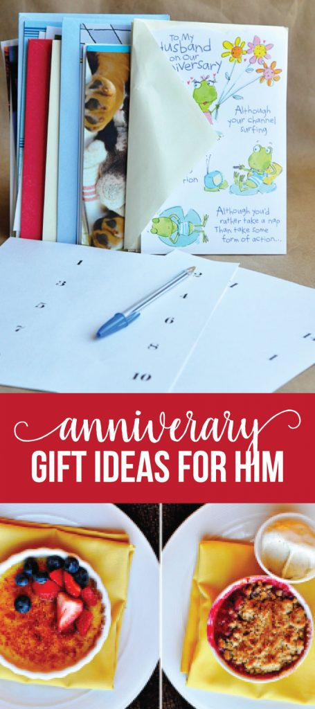 Anniversary Gifts for Him - use this fun, creative idea to give a one of a kind gift to the one you love. www.thirtyhandmadedays.com