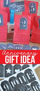 Anniversary Gifts Idea - fun things we've done over the years from www.thirtyhandmadedays.com