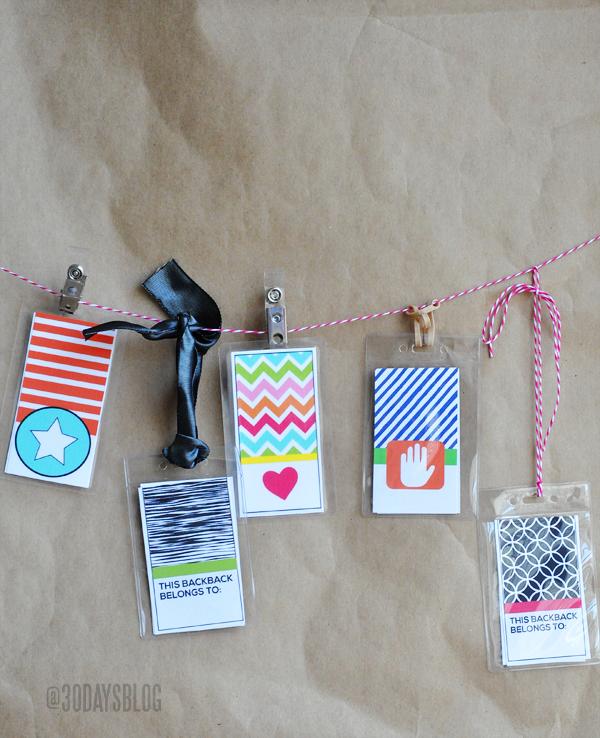 Printable Tags - 5 for girls & 5 for boys www.thirtyhandmadedays.com