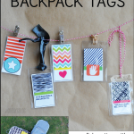 Printable Backpack Tags in collaboration with PS I Adore You www.thirtyhandmadedays.com